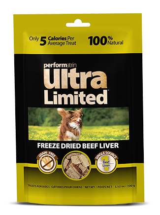 Performatrin Ultra Limited™ Freeze Dried Beef Liver for Dogs