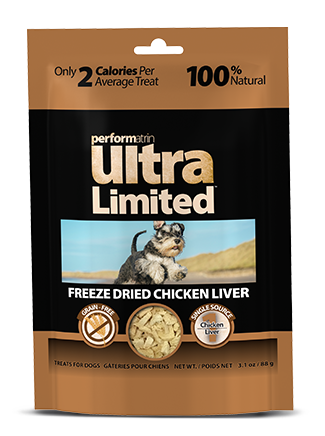 Performatrin Ultra Limited™ Freeze Dried Chicken Liver for Dogs