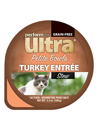 Performatrin Ultra® Petite Bowls Turkey Entrée Stew Cat Food