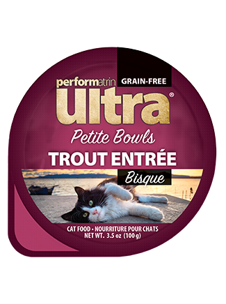Performatrin Ultra® Petite Bowls Trout Entrée Bisque Cat Food